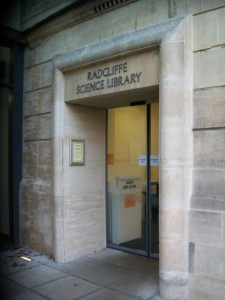 Entrance to the Radcliffe Science Library